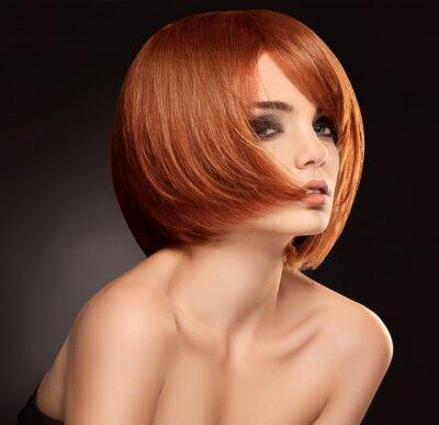 Canvastavlor Rött hår. Hög bildkvalitet.