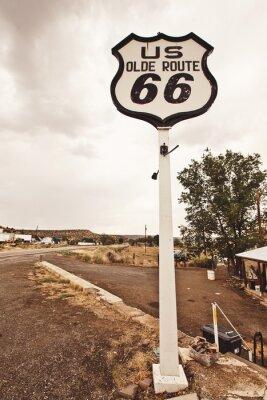 Canvastavlor Route 66 tecken