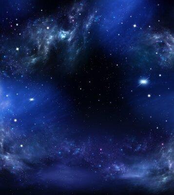 Canvastavlor rymden, abstrakt blå bakgrund