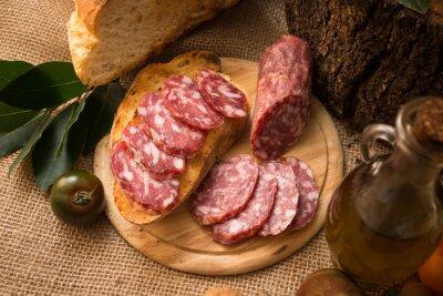 Canvastavlor salame italiano