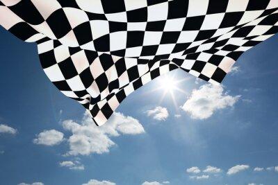 Canvastavlor Sammansatt bild av rutig flagga
