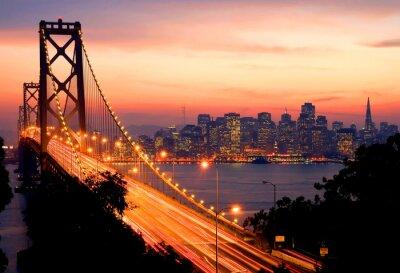Canvastavlor San Francisco Sunset