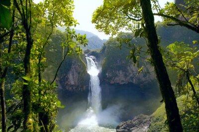 Canvastavlor San Rafael Falls. Den största vattenfall i Ecuador