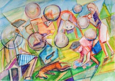 Canvastavlor Såpbubblor i barndomen