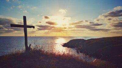 Canvastavlor Scenic soluppgången över kusten, Bulgarien