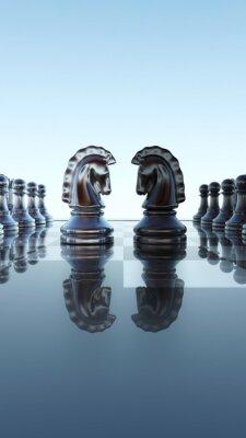 Canvastavlor Schackbräde begrepp - Springer duell