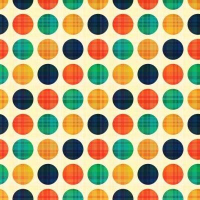 Canvastavlor seamless abstrakt polka dotsmönster
