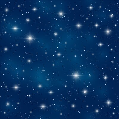 Canvastavlor Seamless blanka stjärnor