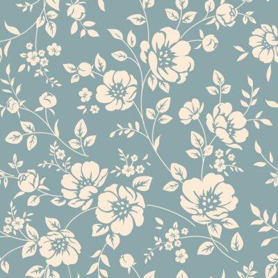 Canvastavlor Seamless blommiga mönster