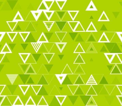 Canvastavlor Seamless geometriskt mönster med trianglar.