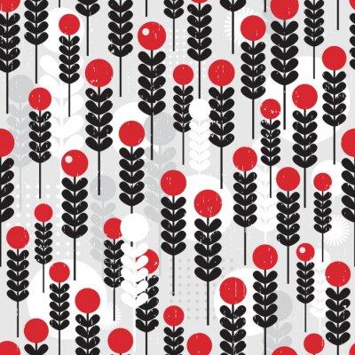 Canvastavlor Seamless mönster med bär.