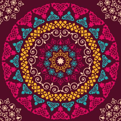 Canvastavlor Seamless mönster. Tappning dekorativa element