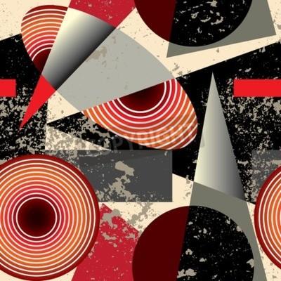 Canvastavlor Seamless pattern.Abstract mönster i kubismen stil