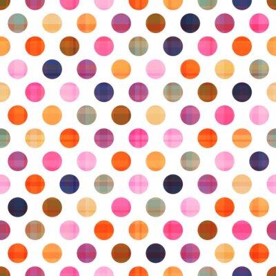 Canvastavlor seamless polka dotsmönster