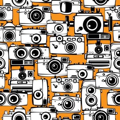 Canvastavlor seamless tappning filmar fotokameror