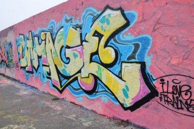 Canvastavlor Segment de mur à Berlin