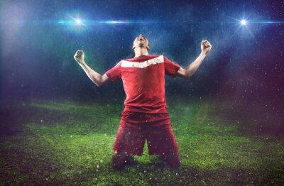 Canvastavlor Segrande Fotbollsspelare