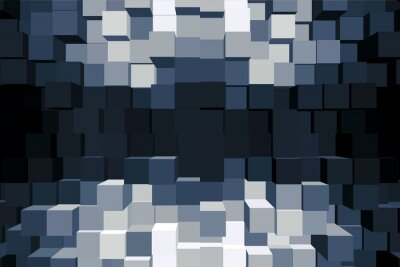 Canvastavlor Sfondo Cubico monocromatico.