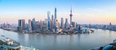 Canvastavlor shanghai skyline utsikt