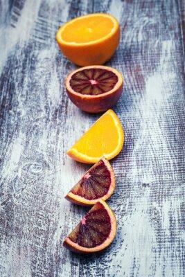 Canvastavlor Sicilianska apelsin isolerad på en trä bakgrund