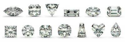 Canvastavlor skär diamant