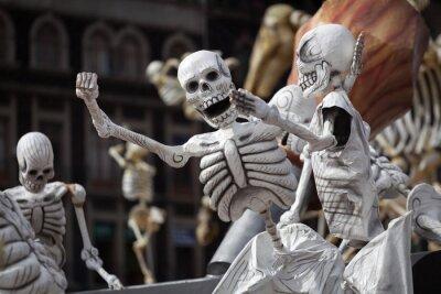 Canvastavlor Skelett av traditionell Day of the Dead, Mexiko