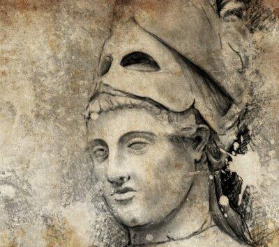 Canvastavlor Skiss som han gjort med digital tablett av allmänna pericles
