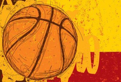 Canvastavlor Skissartade Basket Bakgrund