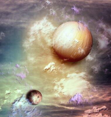 Canvastavlor Sky med planeter