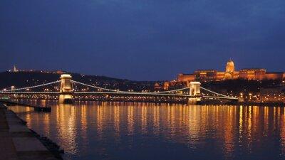 Canvastavlor Skyline Budapest