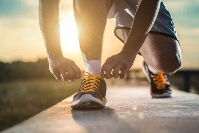 Canvastavlor Slut sköt upp av löpare skor