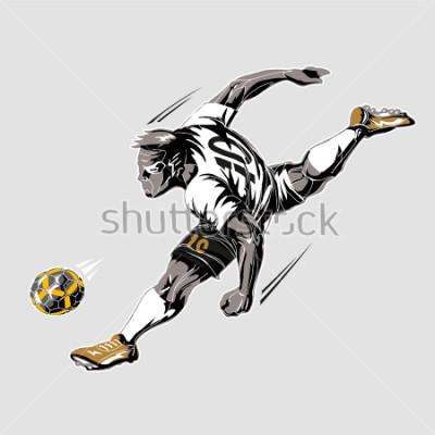 Canvastavlor Soccer player power kick