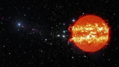 Canvastavlor Solen i yttre rymden. Delar av denna bild som tillhandahålls av NASA