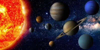 Canvastavlor Solsystem