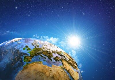 Canvastavlor Soluppgång över jorden