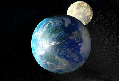 Canvastavlor Soluppgång över Jorden sedd från rymden