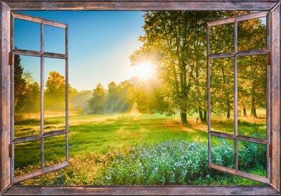 Canvastavlor soluppgång utsikt från fönstret