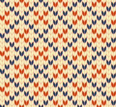 Canvastavlor Sömlös stickning vektor mönster