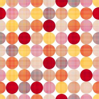 Canvastavlor sömlösa cirklar bakgrund textur