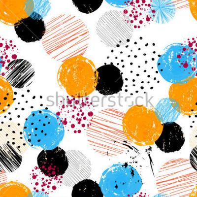 Canvastavlor sömlöst bakgrundsmönster, med cirklar / prickar, slag och stänk