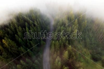 Canvastavlor Sommar utsikt över bergsvägen