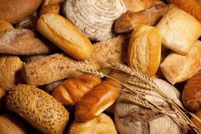 Canvastavlor sortiment av bröd med vete