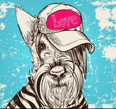 Canvastavlor söt porträtt av en skotsk terrier
