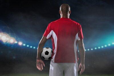 Canvastavlor Spelare med fotboll