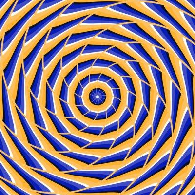 Canvastavlor Spiral vridning till centrum. Abstrakt vektor optisk illusion bakgrund.