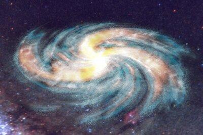 Canvastavlor Spiralgalax på utrymme bakgrund med stjärnor