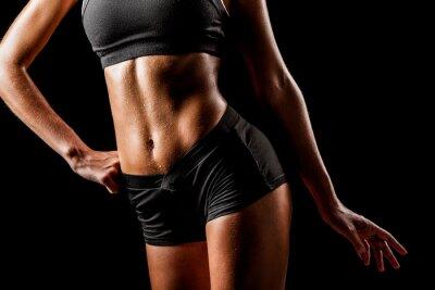 Canvastavlor sport kvinna kropp
