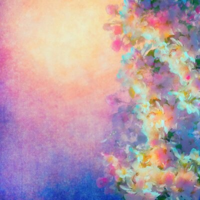 Canvastavlor Spring Cherry Blossom