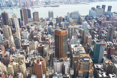 Canvastavlor Stadsbild utsikt över Manhattan