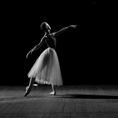 Canvastavlor stående nätt ballerina